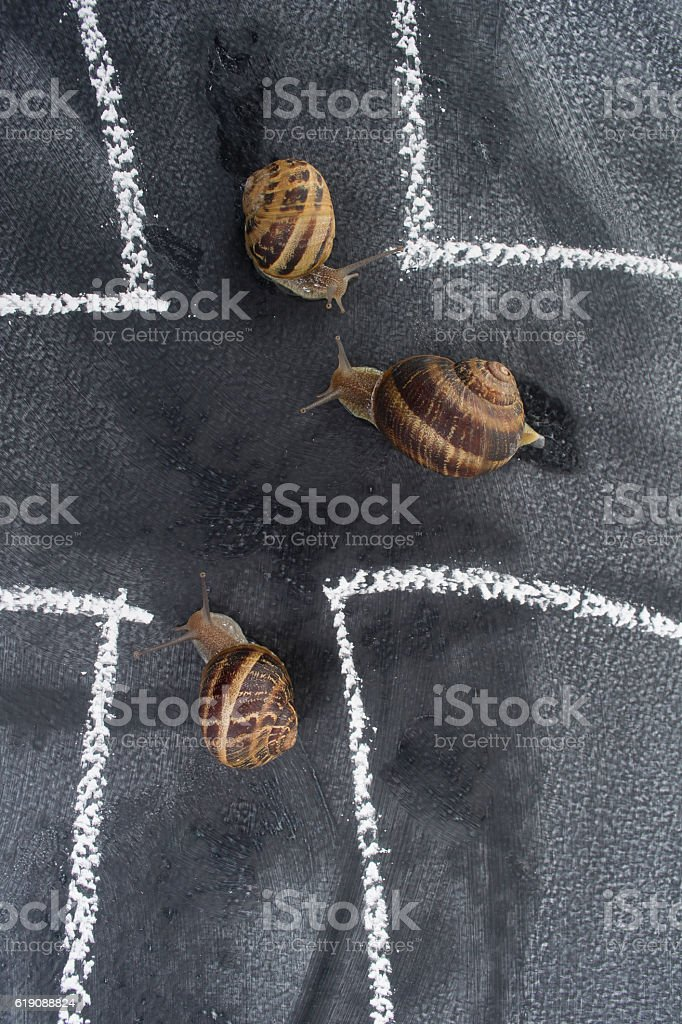 In spiral slow journey stock photo