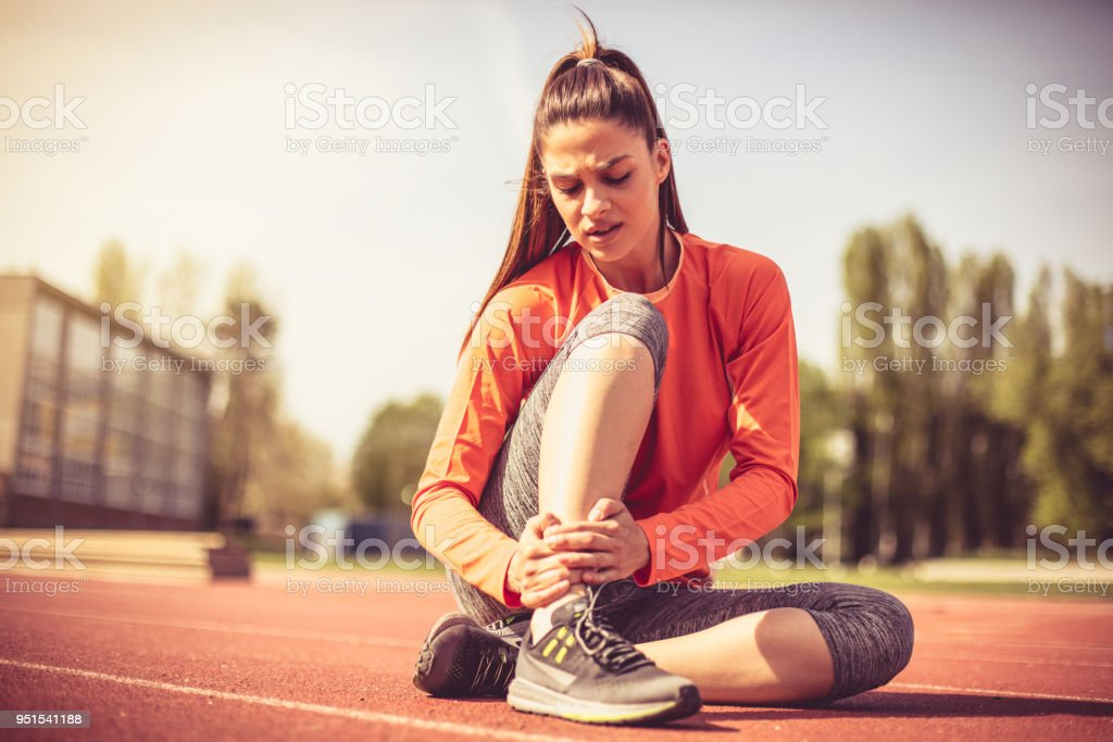 In sport activity injuries are often. stock photo
