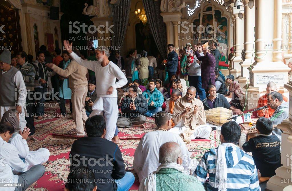 In Sri Krishna-Balaram Temple stock photo