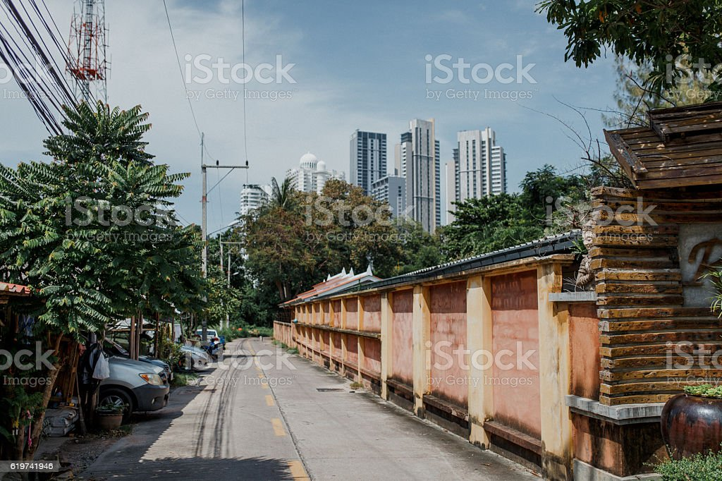 In summer, the streets city of Pattaya, Thailand royalty-free stock photo