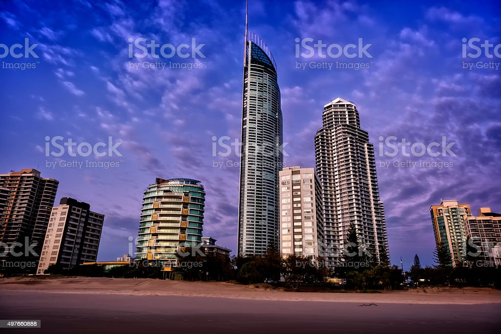 Q1 in Surfers Paradise stock photo