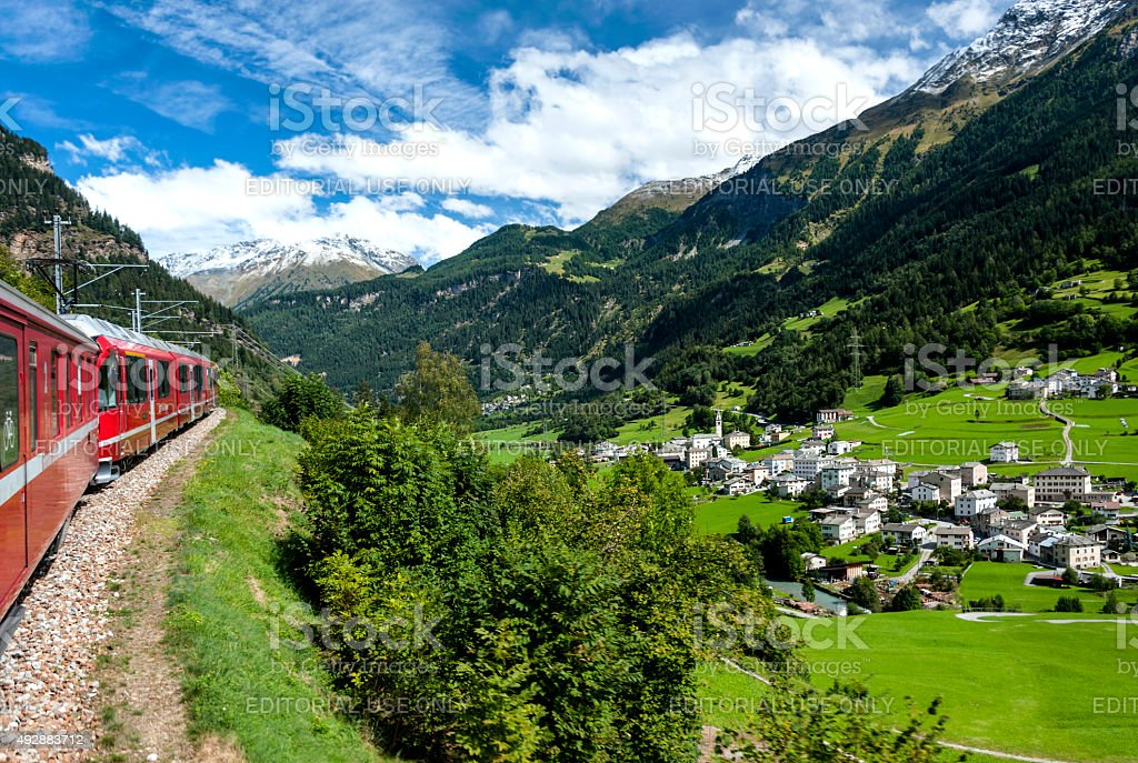 In Swiss Alpes stock photo