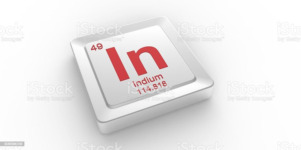 In Symbol 49 Material For Indium Chemical Element Stock Photo More