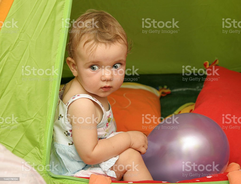 In tent royalty-free stock photo