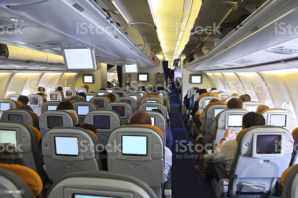 In the airplane stock photo
