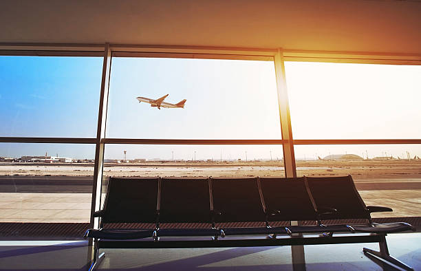 in the airport - respiratory tract stock photos and pictures