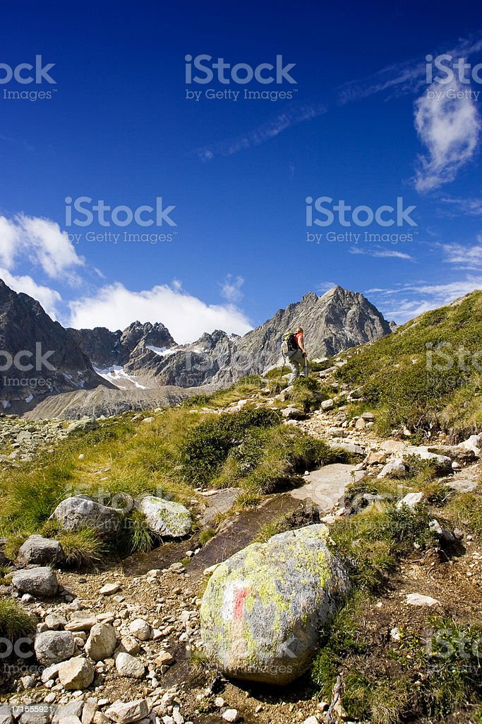 In the alps stock photo