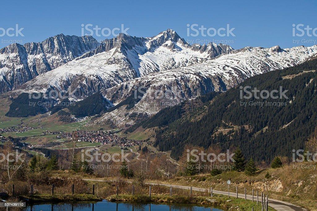 in the Anterior Rhine valley stock photo