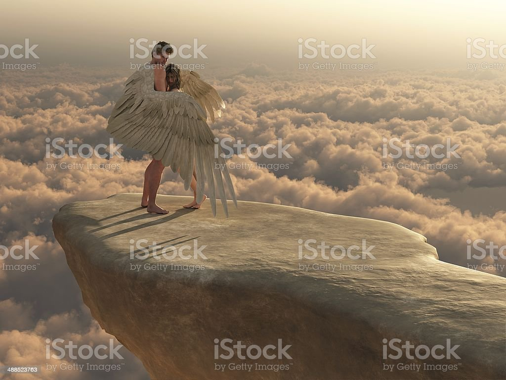 En los brazos de un ángel - foto de stock