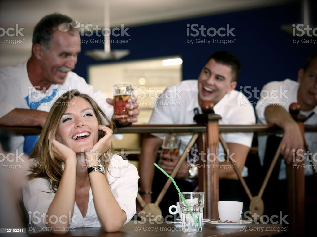 In the bar royalty-free stock photo