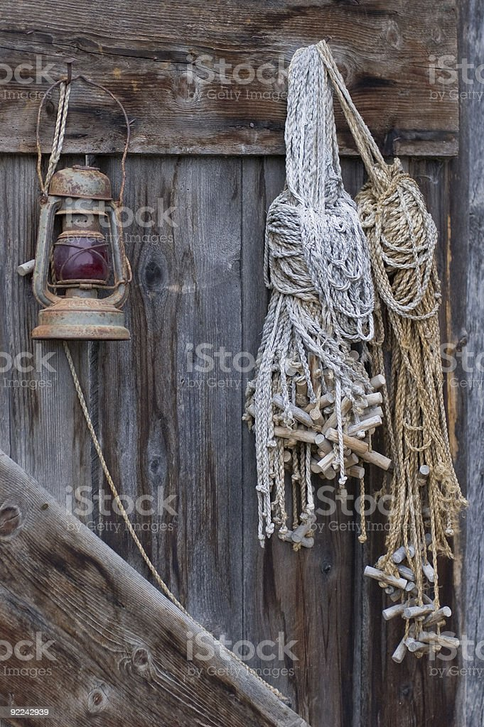 In the barn royalty-free stock photo