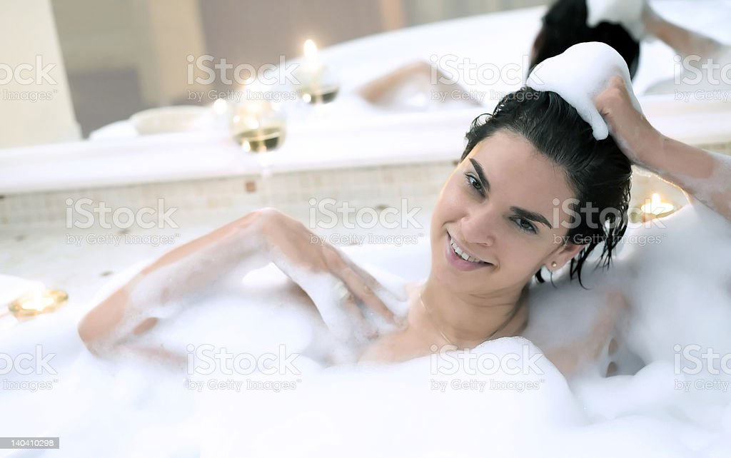 In the bathroom royalty-free stock photo