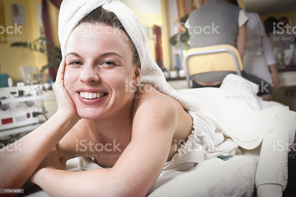 In the beauty-shop stock photo