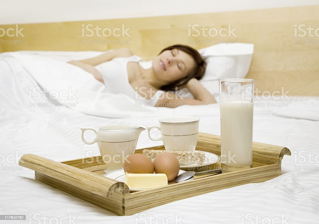 in the bed royalty-free stock photo