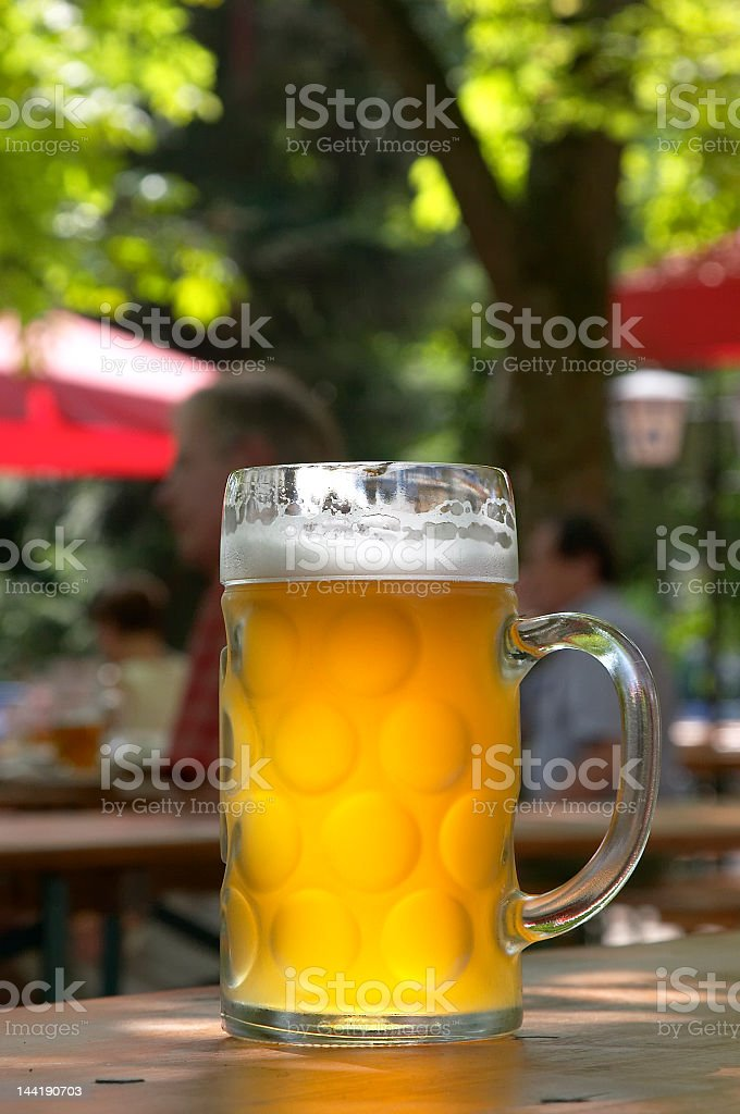 In the beergarden royalty-free stock photo