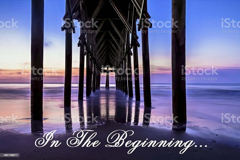 In The Beginning GOD stock photo