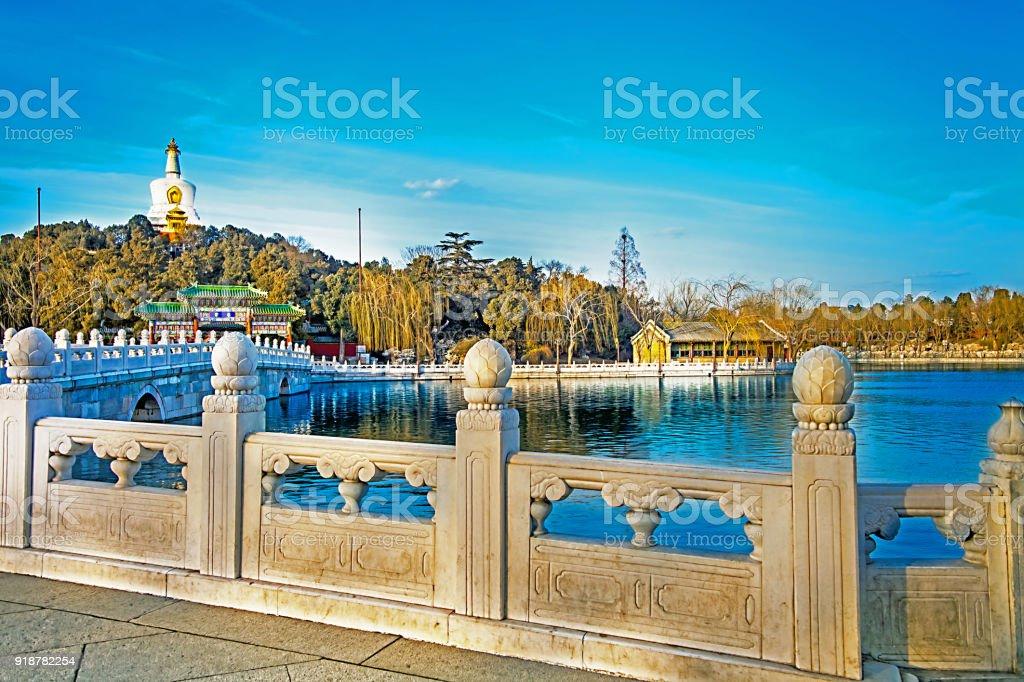 In the Beihai Park in Beijing North China China stock photo