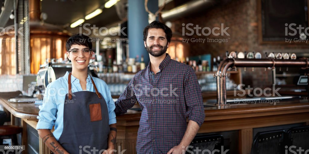 In the business of beer awesomeness stock photo