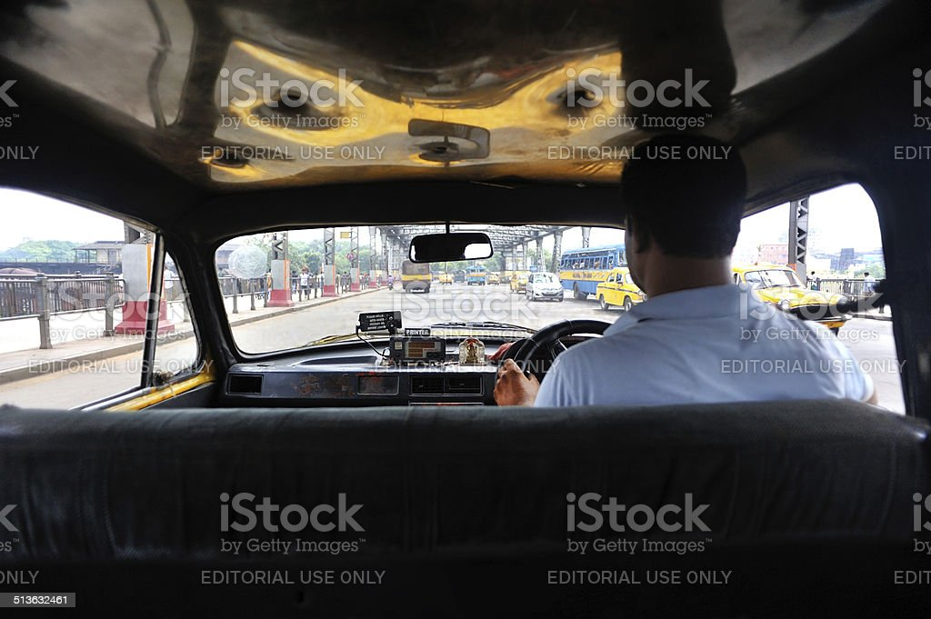 in the cab stock photo