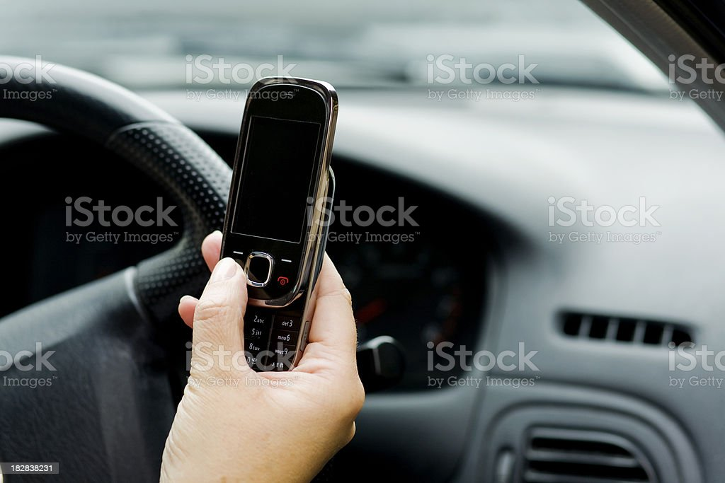 In the car royalty-free stock photo