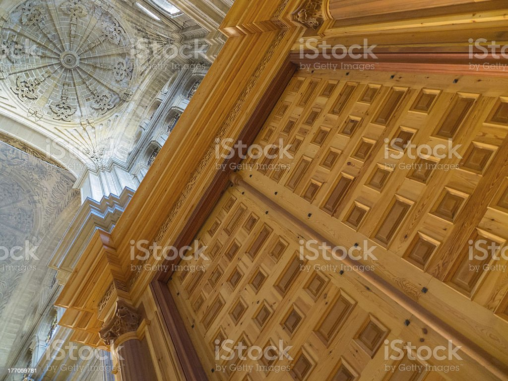 In the cathedral royalty-free stock photo