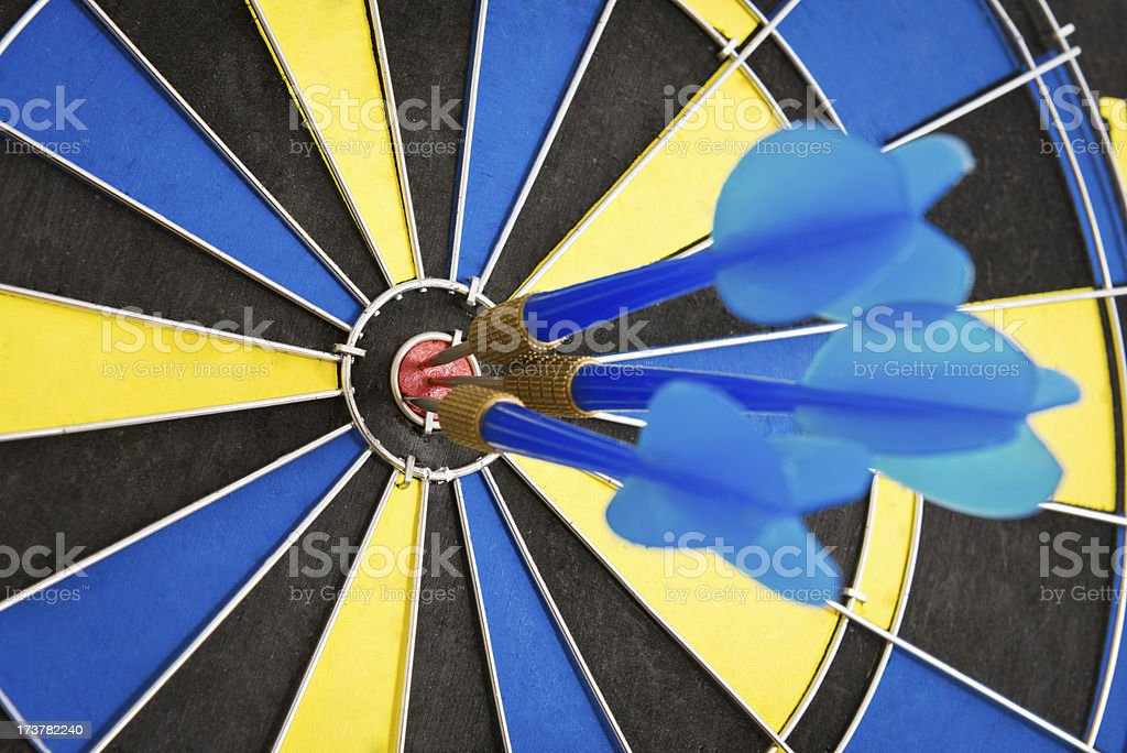 In the center of target royalty-free stock photo