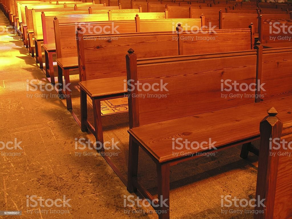 In the church... royalty-free stock photo