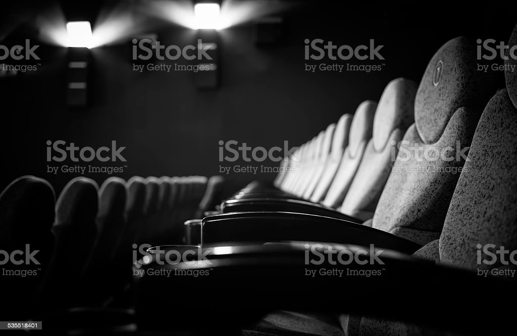 in the cinema royalty-free stock photo