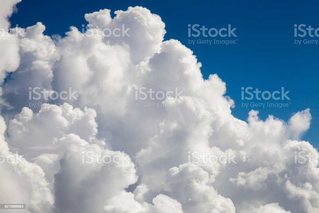 In the clouds stock photo