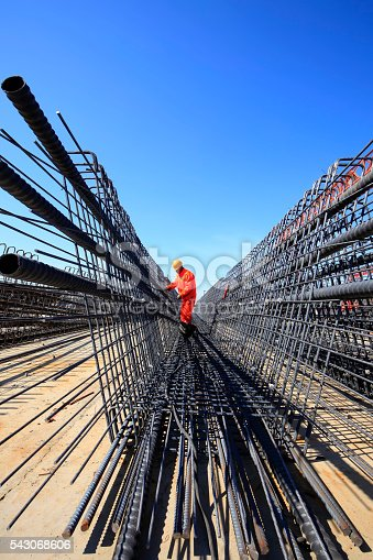 istock In the construction site, the welding workers at work 543068606