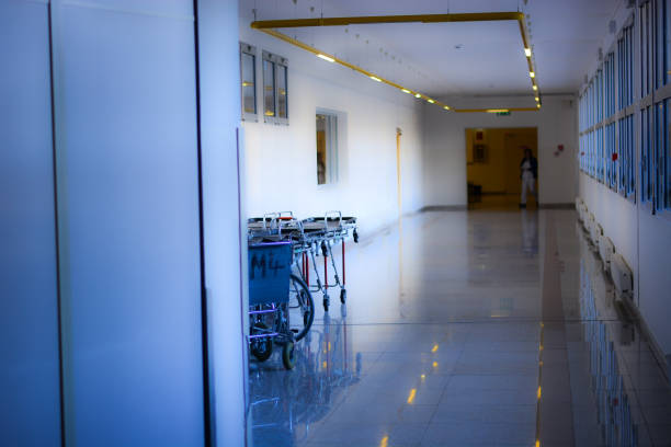 in the corridors of hospitals