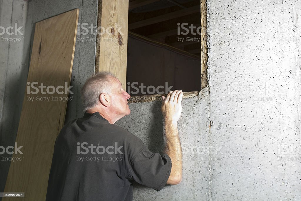 In The Crawl Space stock photo