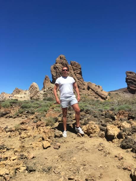 In the creator of Mount Teide in Tenerife. stock photo
