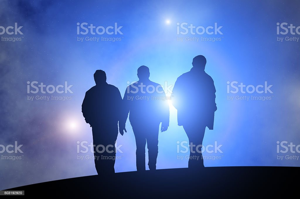 In the darkness of night. stock photo