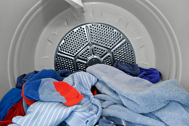 In the Dryer. stock photo