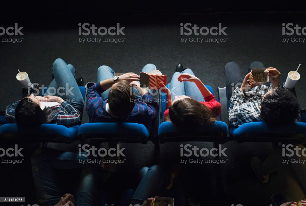 In The Expectation Of The Show stock photo