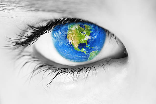 usa in the eye - earth from space bildbanksfoton och bilder