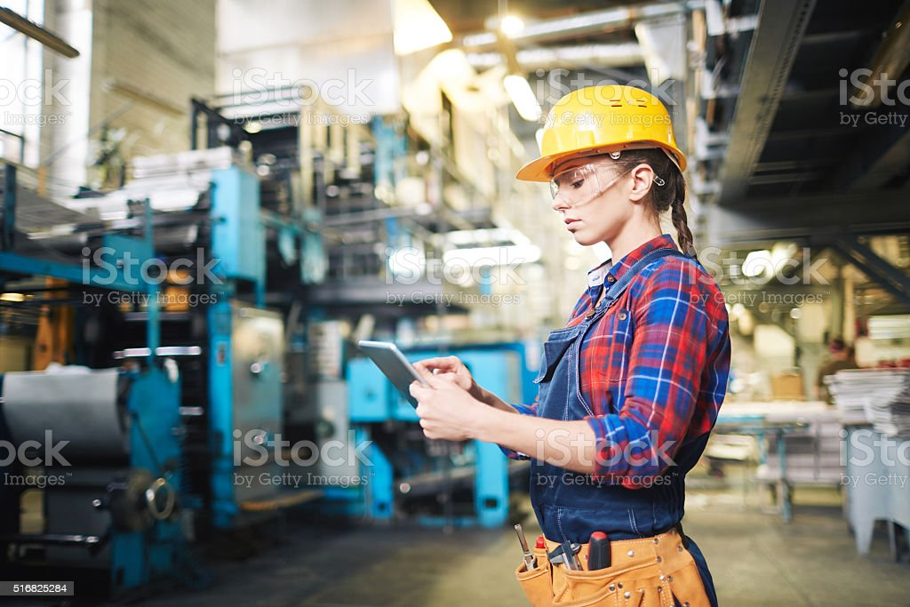 In the factory stock photo
