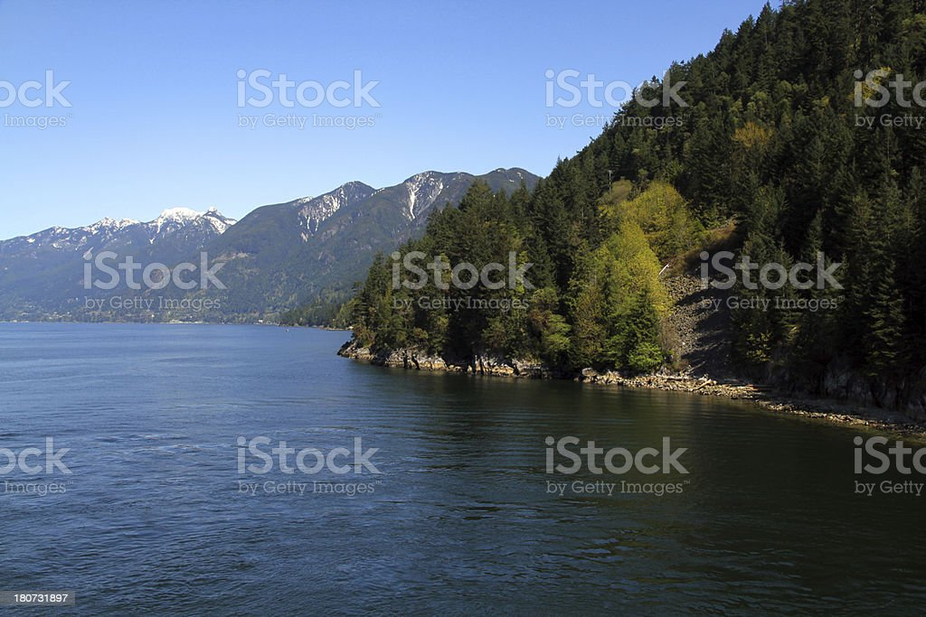 In the Fjord royalty-free stock photo