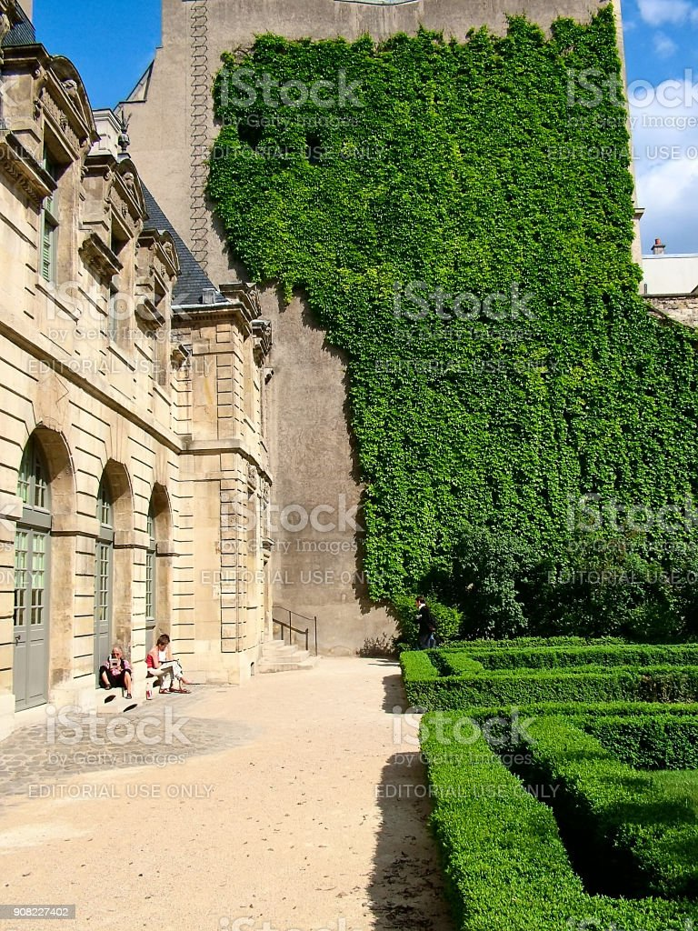 In the garden of Sully in Paris stock photo