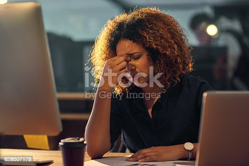 1012363738 istock photo In the grip of occupational stress 628507178