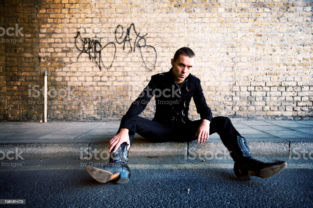 in the gutter stock photo
