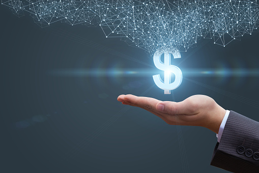istock In the hands appears with a dollar sign. 681242642
