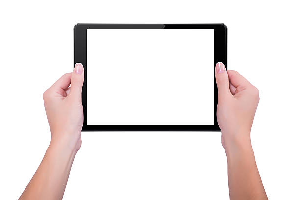 In den Händen der Mädchen Schwarz tablet – Foto