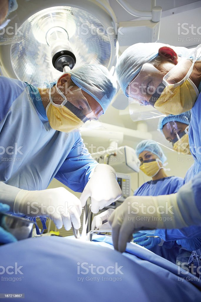 In the hands on a surgeon stock photo