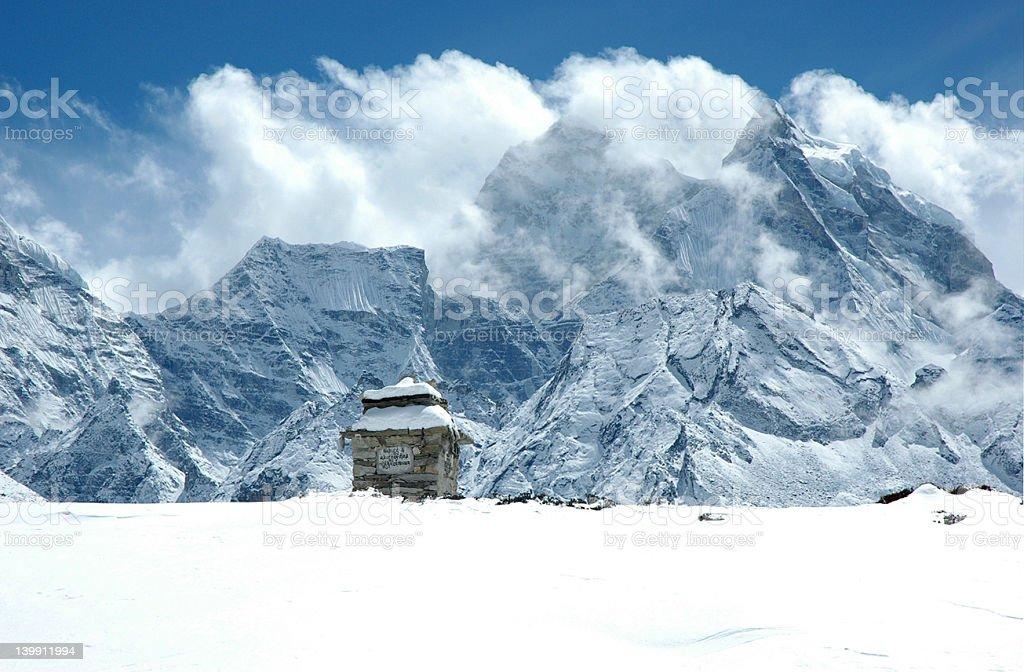 In the Himalaya royalty-free stock photo