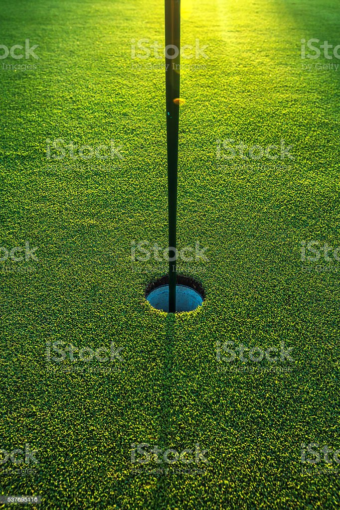 In the hole stock photo