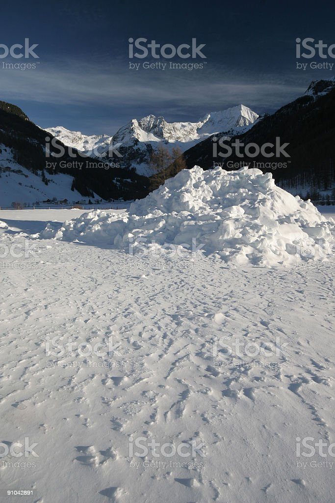in the italian alps royalty-free stock photo