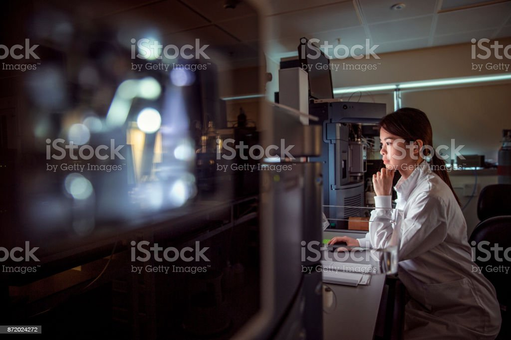 In the lab studying Phenotyping stock photo