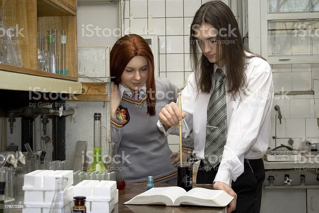 In the laboratory stock photo